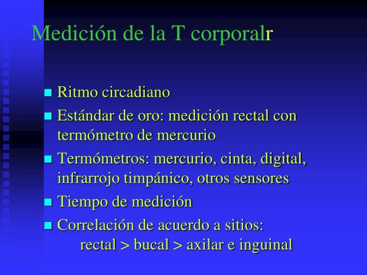 Medición de la T corporal