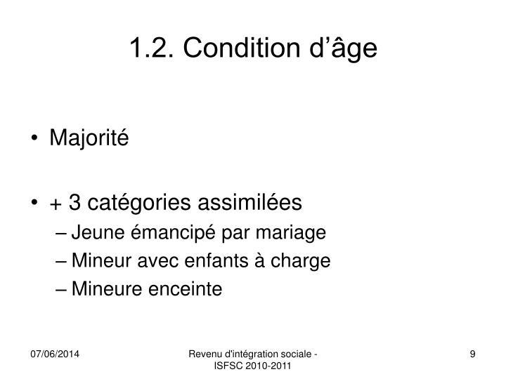 1.2. Condition d'âge