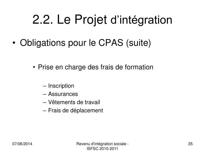 2.2. Le Projet