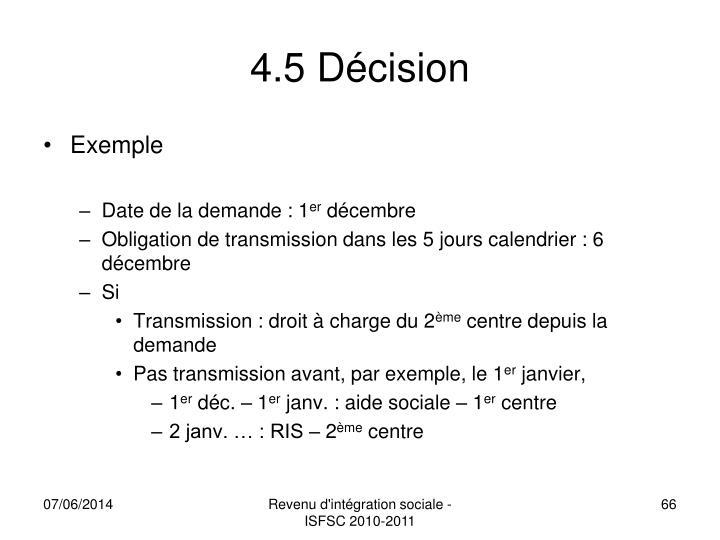 4.5 Décision