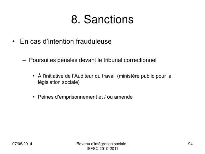 8. Sanctions
