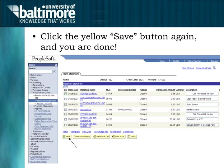 """Click the yellow """"Save"""" button again, and you are done!"""