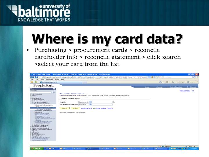 Where is my card data?