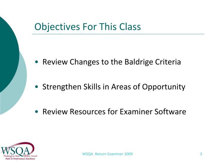 Objectives For This Class