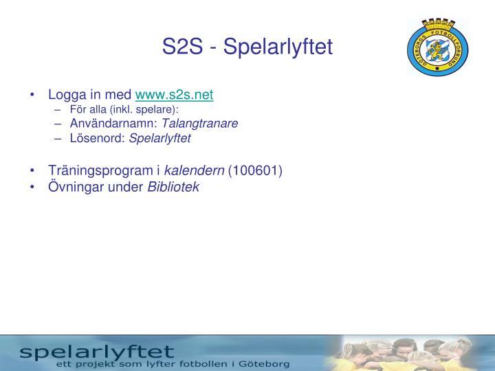 S2S - Spelarlyftet