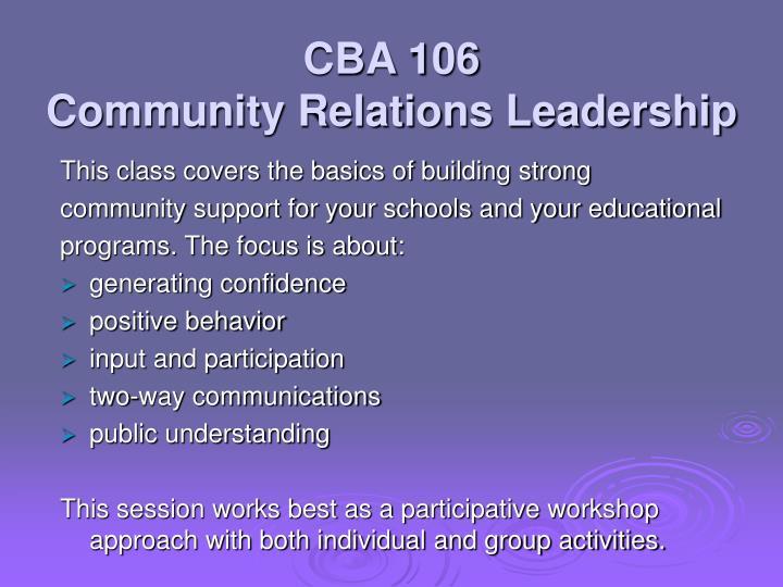 CBA 106