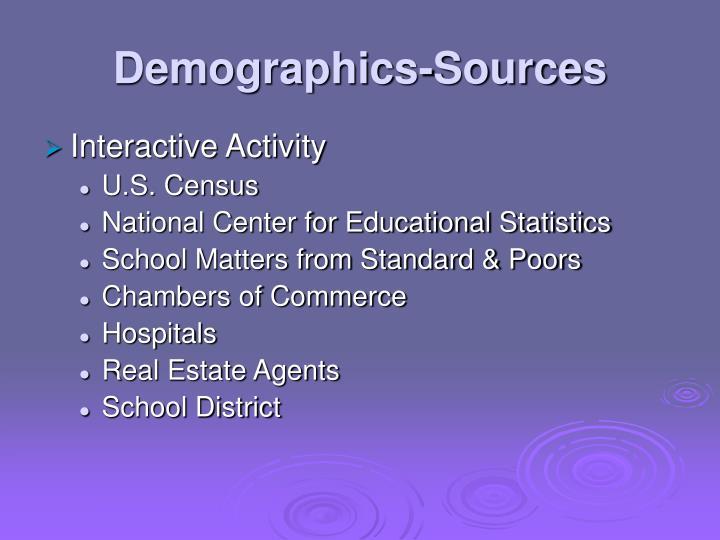 Demographics-Sources