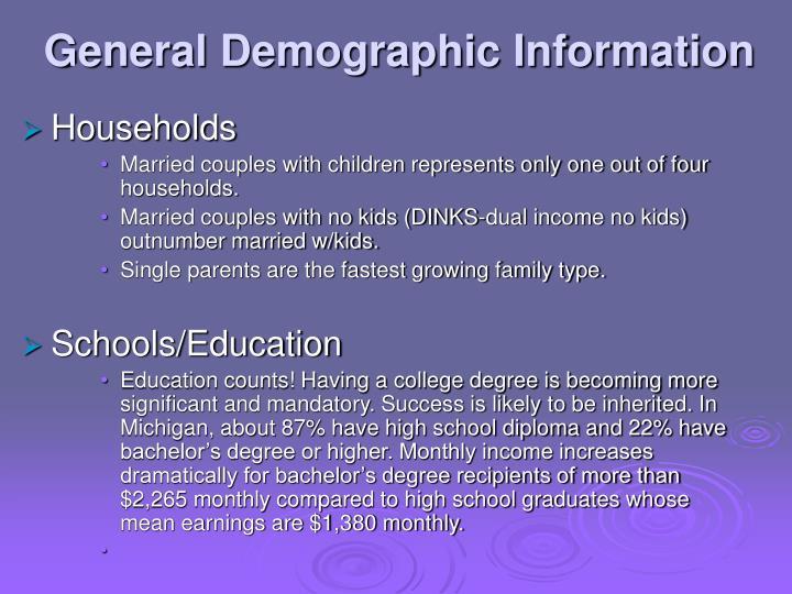 General Demographic Information