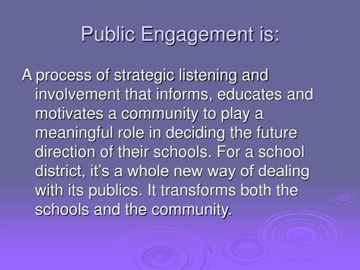 Public Engagement is: