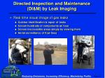 directed inspection and maintenance di m by leak imaging