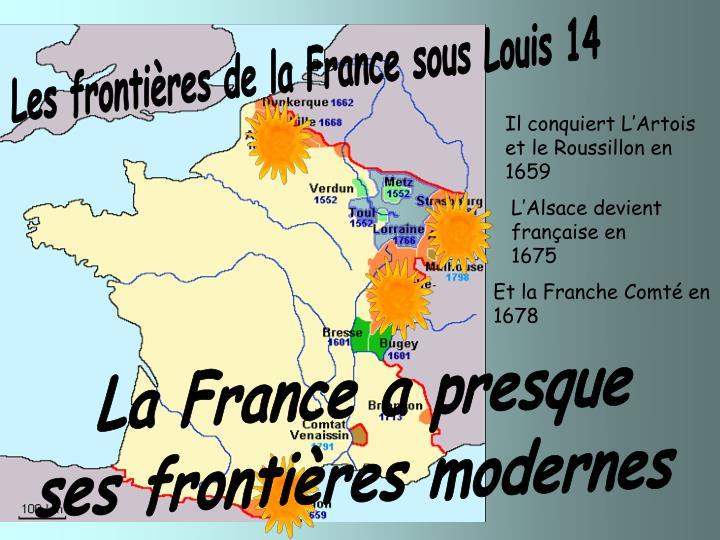 Les frontières de la France sous Louis 14