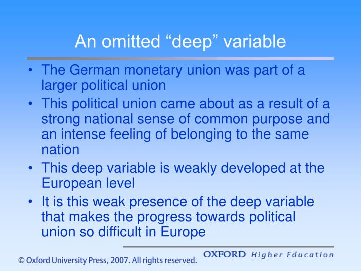 "An omitted ""deep"" variable"