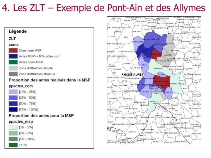 4. Les ZLT – Exemple de Pont-Ain et des Allymes