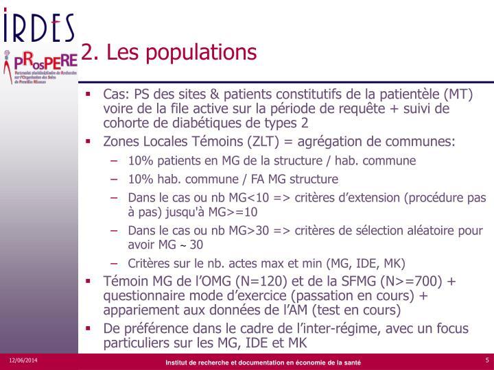 2. Les populations