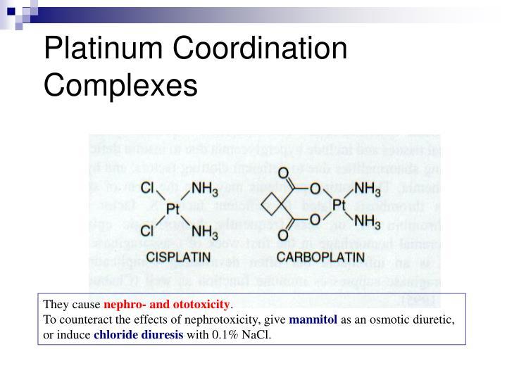 Platinum Coordination Complexes