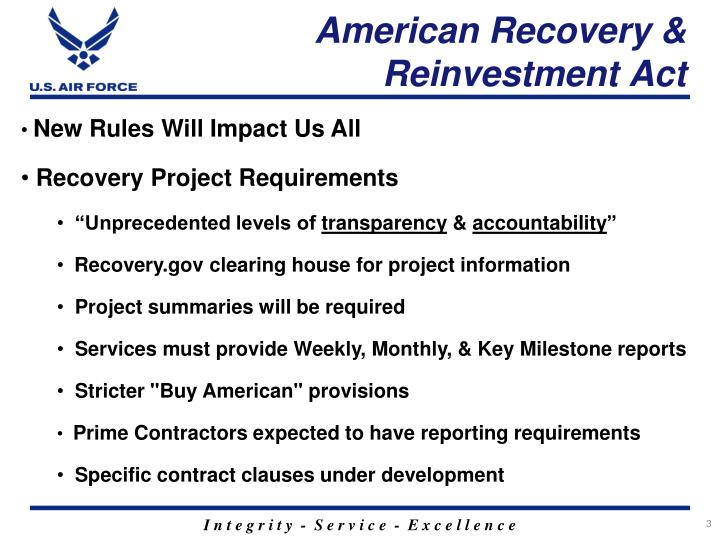American recovery reinvestment act2