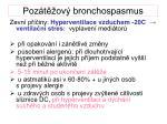 poz t ov bronchospasmus