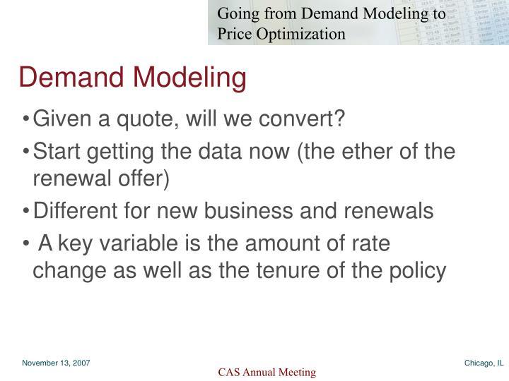 Demand Modeling