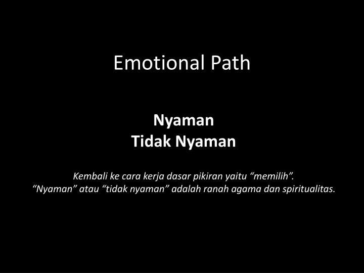 Emotional Path