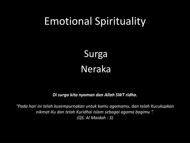 Emotional Spirituality