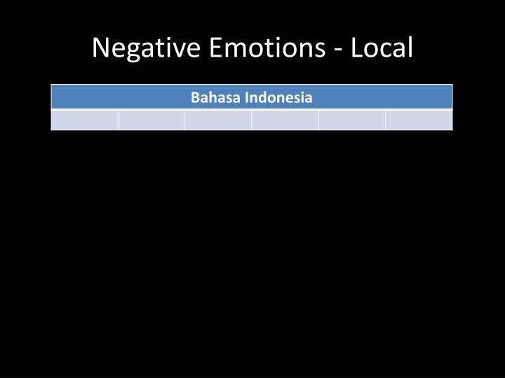 Negative Emotions - Local