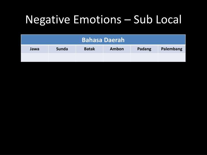 Negative Emotions – Sub Local