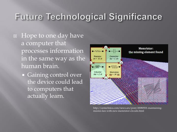 Future Technological Significance