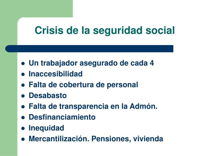 Crisis de la seguridad social