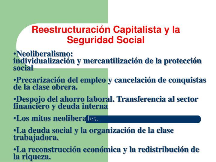 Reestructuración Capitalista