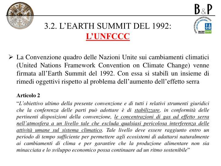 3.2. L'EARTH SUMMIT DEL 1992: