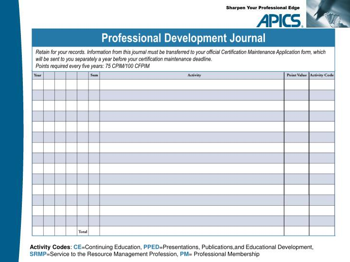 Professional Development Journal