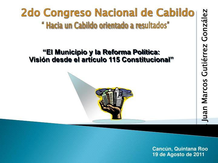 2do Congreso Nacional de Cabildo
