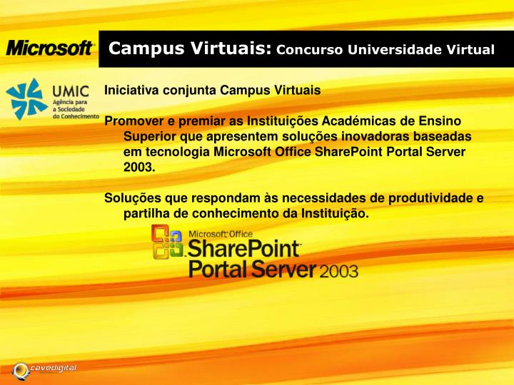 Campus virtuais concurso universidade virtual