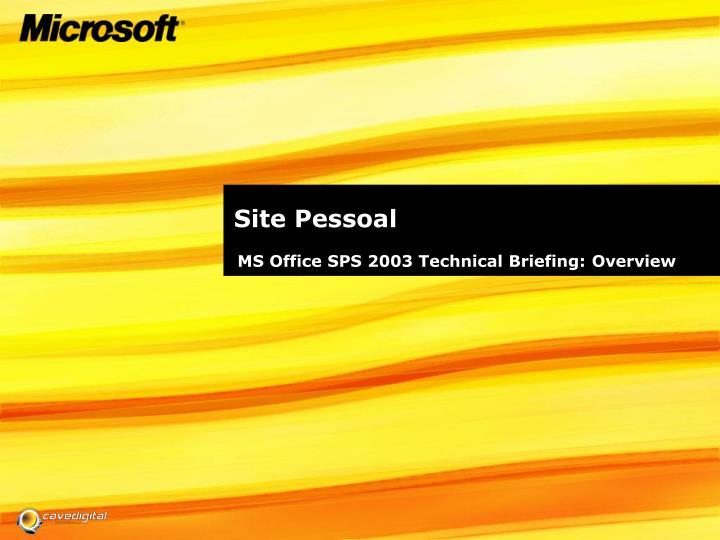Site Pessoal
