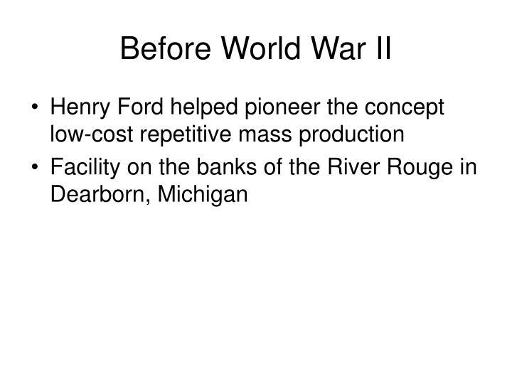 Before World War II