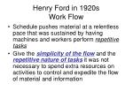 henry ford in 1920s work flow1