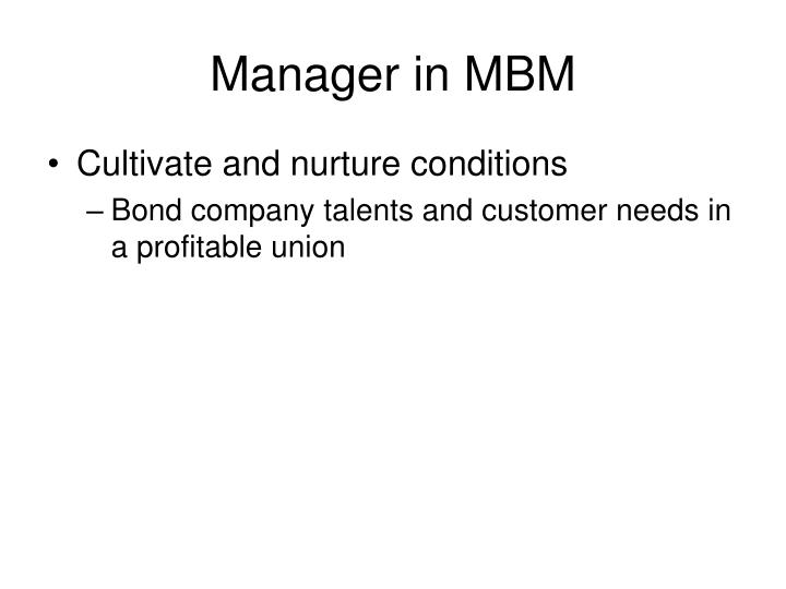 Manager in MBM