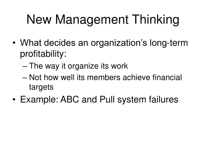 New Management Thinking