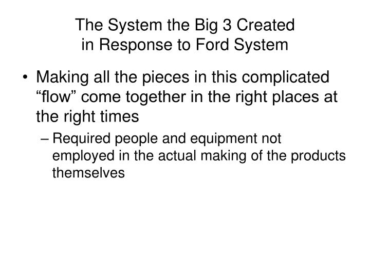 The System the Big 3 Created