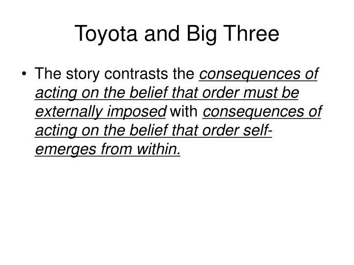 Toyota and Big Three