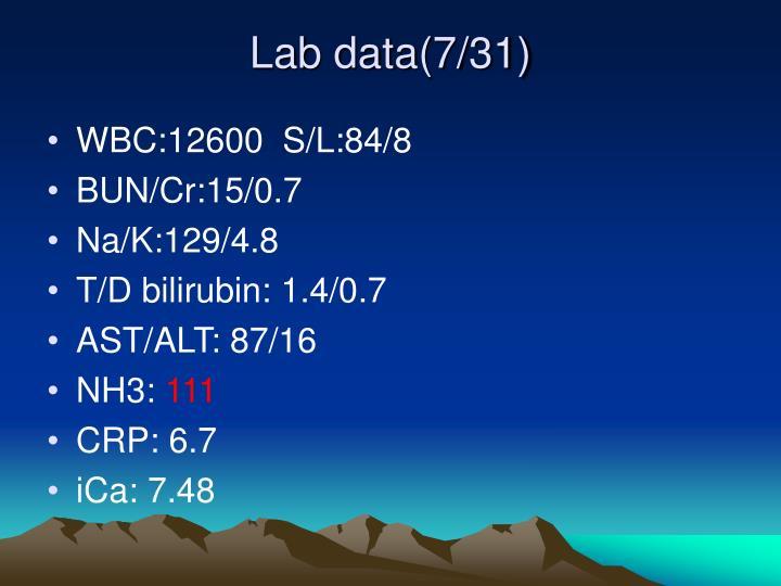 Lab data(7/31)
