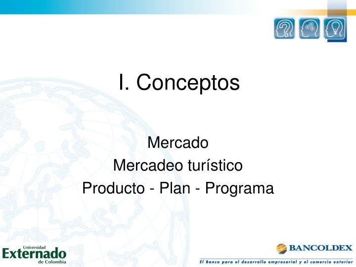 I. Conceptos