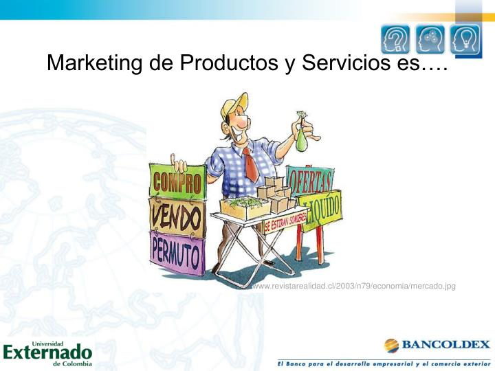 Marketing de Productos y Servicios es….