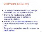 observations bernstein 2001