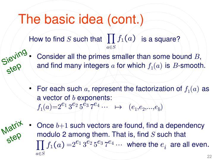 The basic idea (cont.)