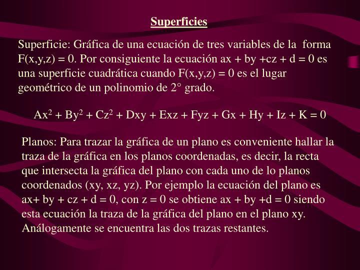 Superficies