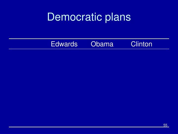 Democratic plans