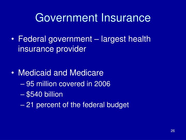 Government Insurance
