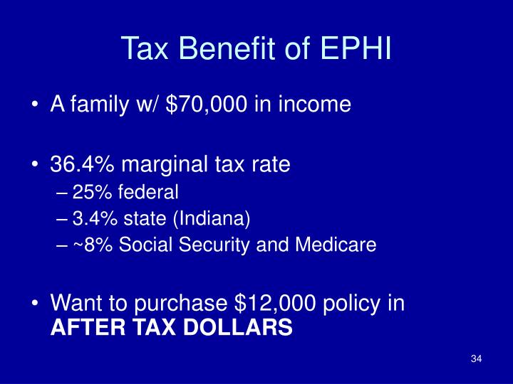 Tax Benefit of EPHI