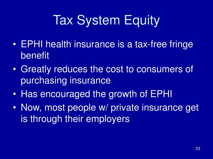 Tax System Equity